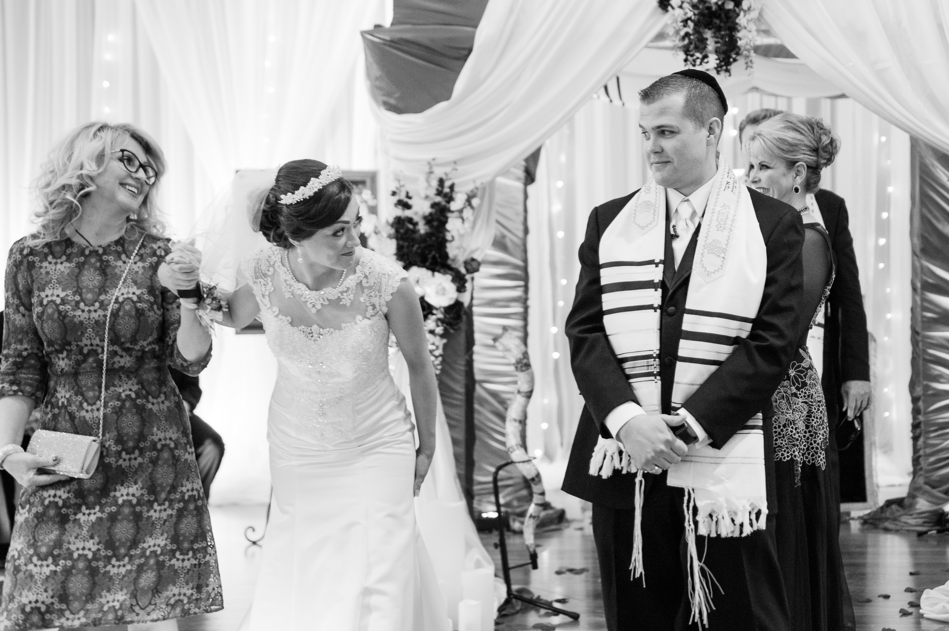 the encircling during the hebrew wedding ceremony